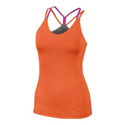 Women`s Star Double Strap Tennis Tank Nasturtium
