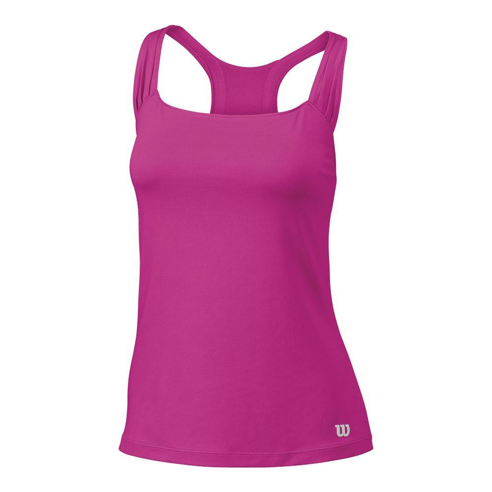 Women's Core Classic Tennis Tank Rose Violet