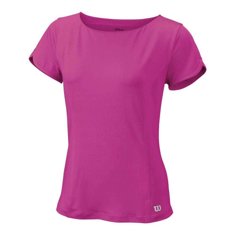Women's Star Crossover Cap Sleeve Tennis Top Rose Violet