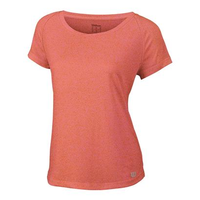 Womens Core Cap Sleeve Tennis Top Nasturtium