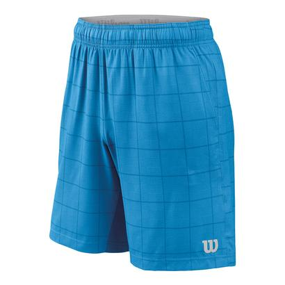 Men`s Star Plaid 9 Inch Tennis Short Blithe and Deep Water