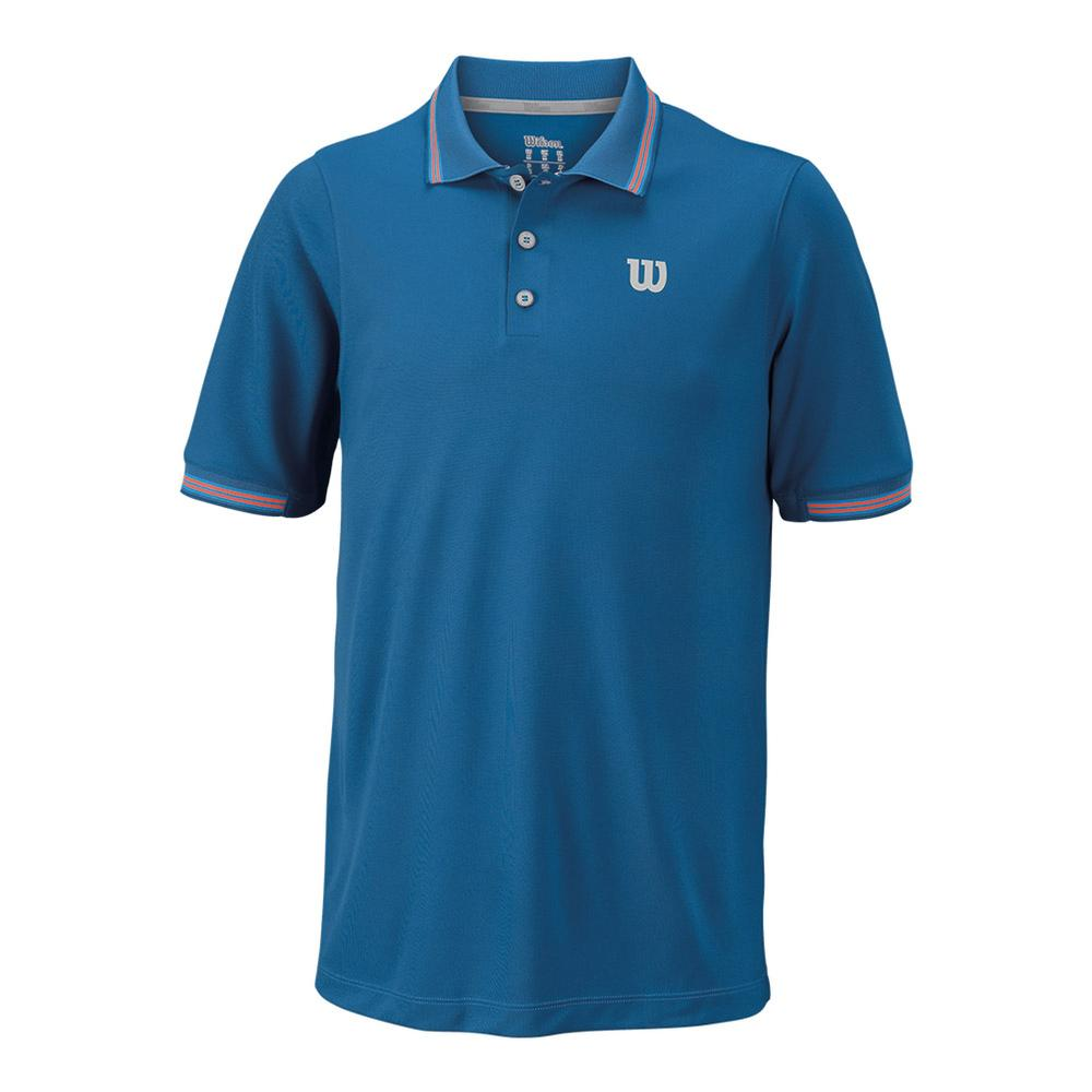Men's Star Tipped Tennis Polo Deep Water