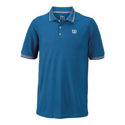 Men`s Star Tipped Tennis Polo Deep Water