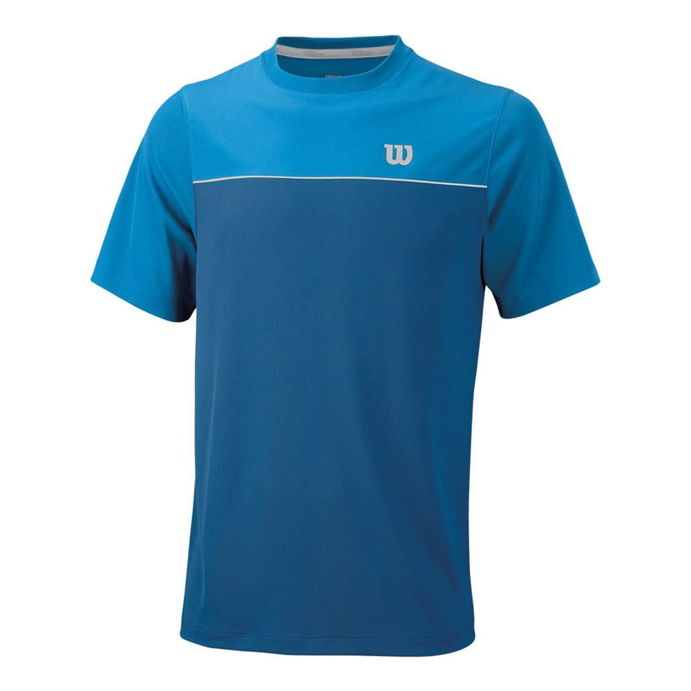 Men's Star Bonded Tennis Crew Deep Water And Blithe