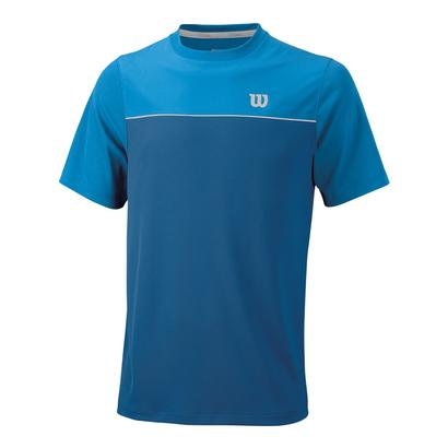 Men`s Star Bonded Tennis Crew Deep Water and Blithe