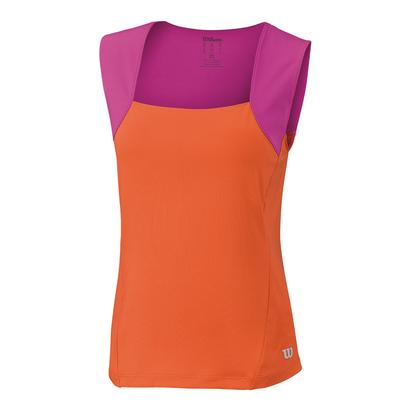 Girls` Motion Tennis Tank Nasturtium and Rose Violet