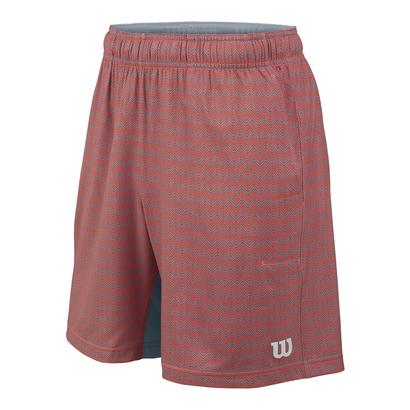 Boys` Labyrinth 7 Inch Tennis Short Hot Coral and Tradewinds