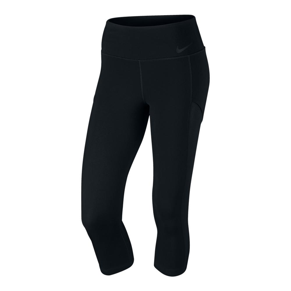 Women's Court Tennis Capri Black