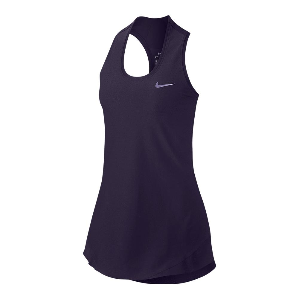 Women's Maria Power Tennis Dress Purple Dynasty And Black