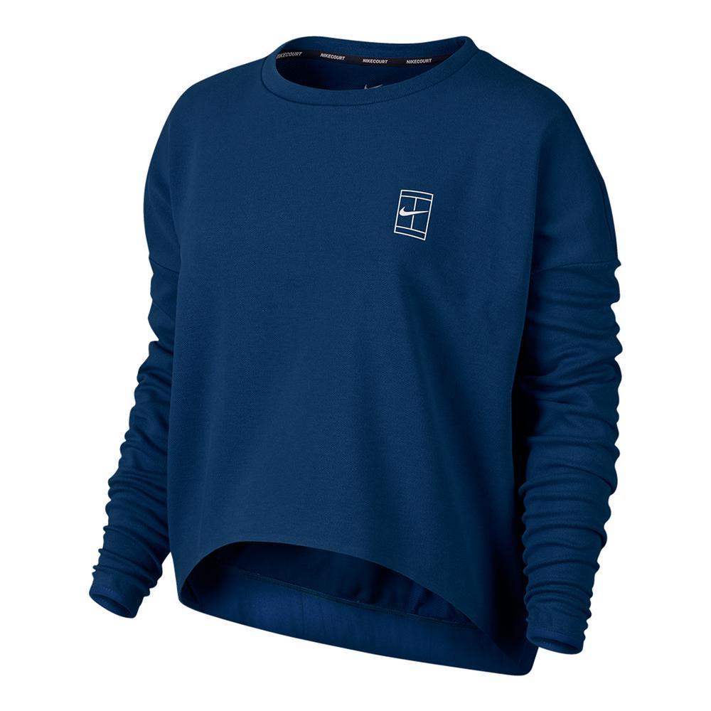 Women's Baseline Long Sleeve Tennis Top Binary Blue