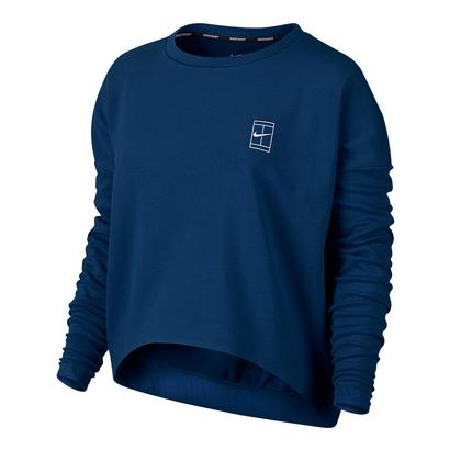 Women`s Baseline Long Sleeve Tennis Top Binary Blue