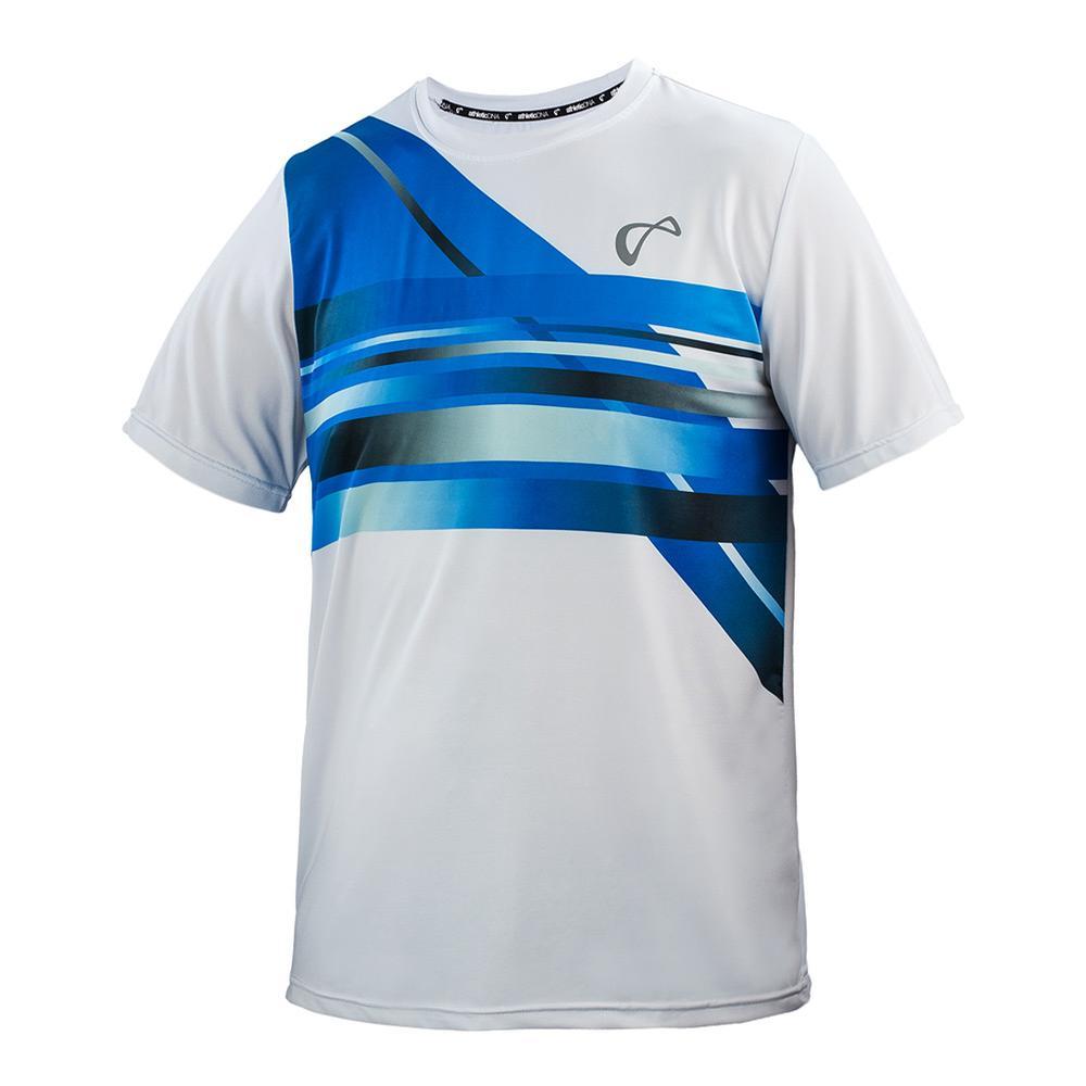 Men's Hombre Match Tennis Crew White