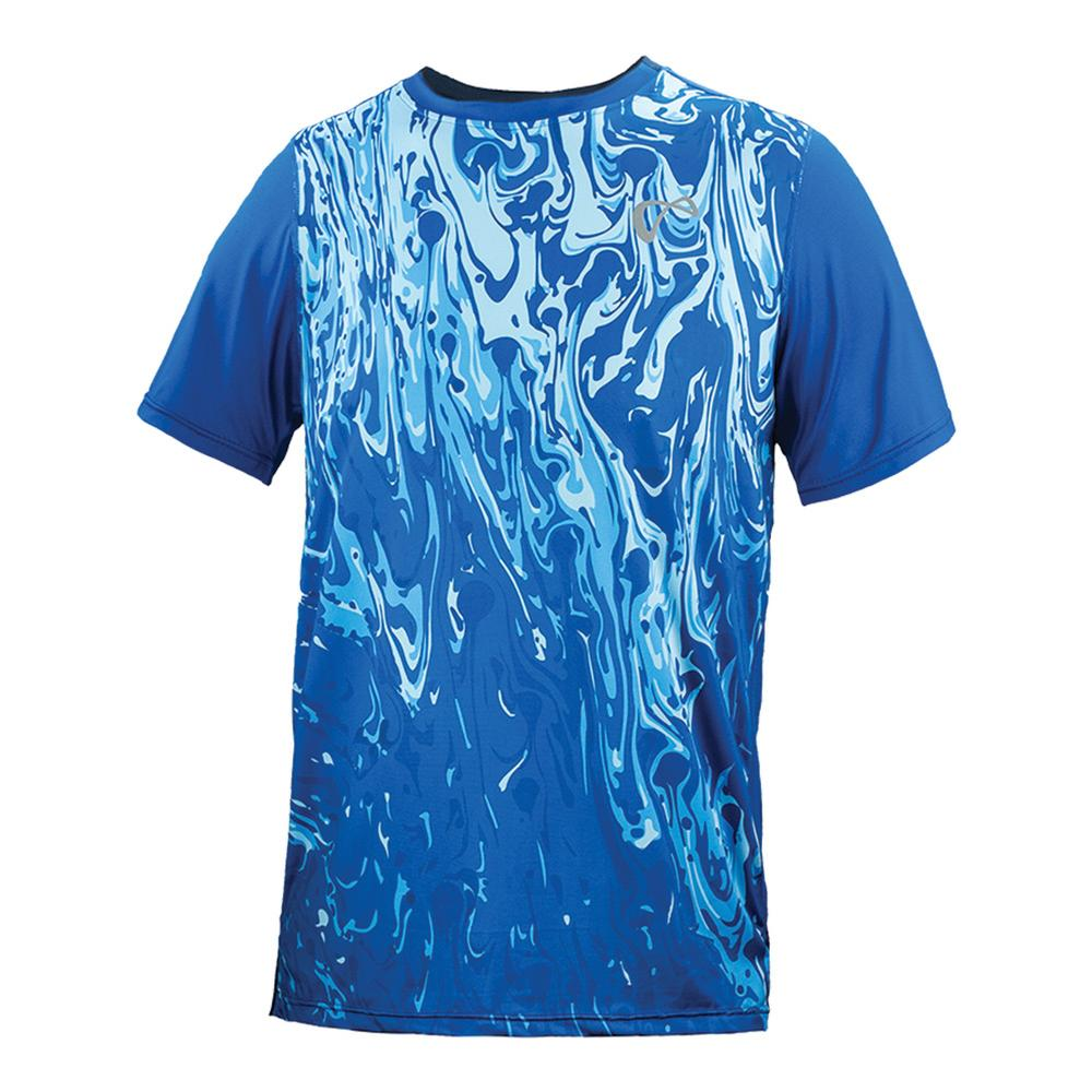 Men's Lava Mesh Back Match Tennis Crew Storm
