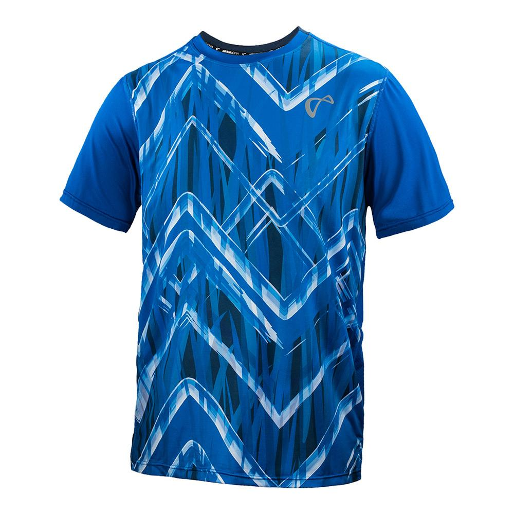 Men's Up And Down Mesh Back Match Tennis Crew Storm