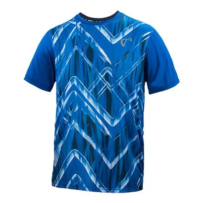 Men`s Up and Down Mesh Back Match Tennis Crew Storm