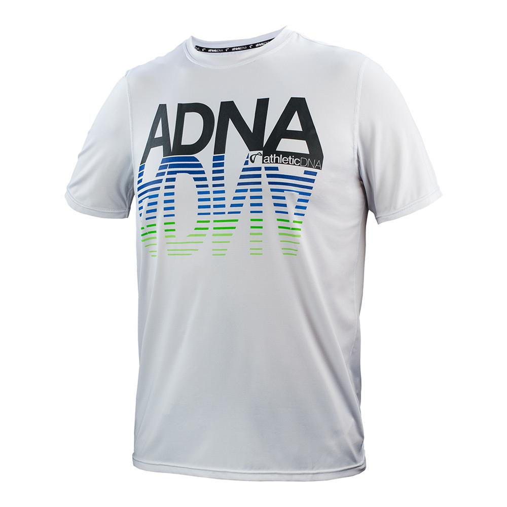 Boys ` Mirror Graphic Tennis Tee White