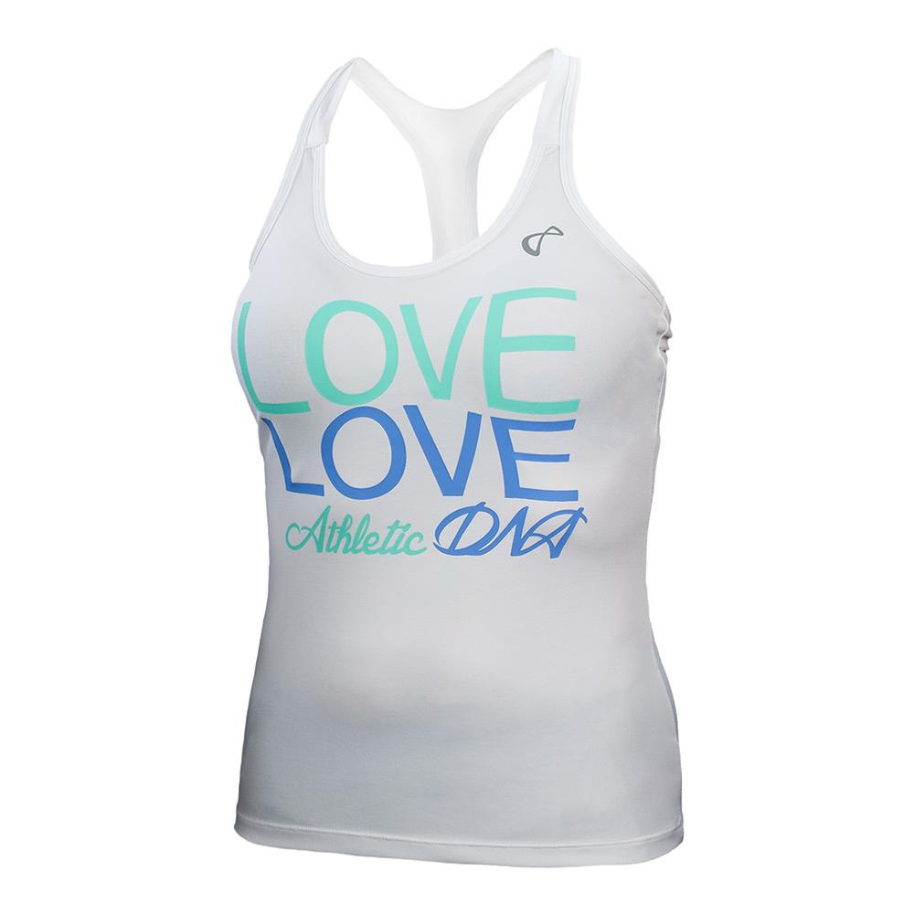 Women's Love Graphic Tennis Tank Vista