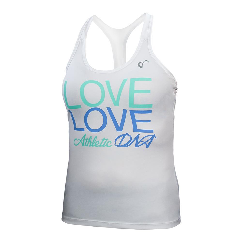 Girls ` Love Graphic Tennis Tank Vista