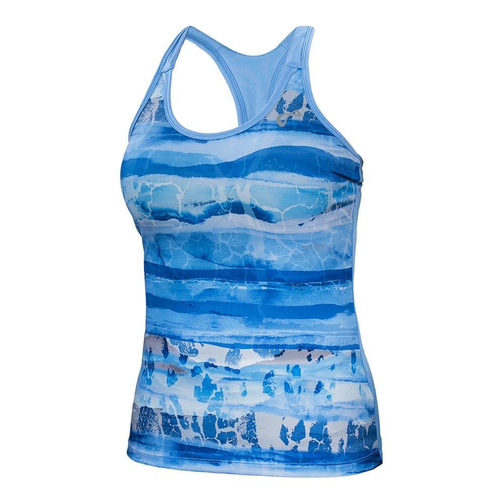 Women's Acid Blur Racerback Tennis Tank Vista