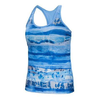 Girls` Acid Blur Racerback Tennis Tank Vista