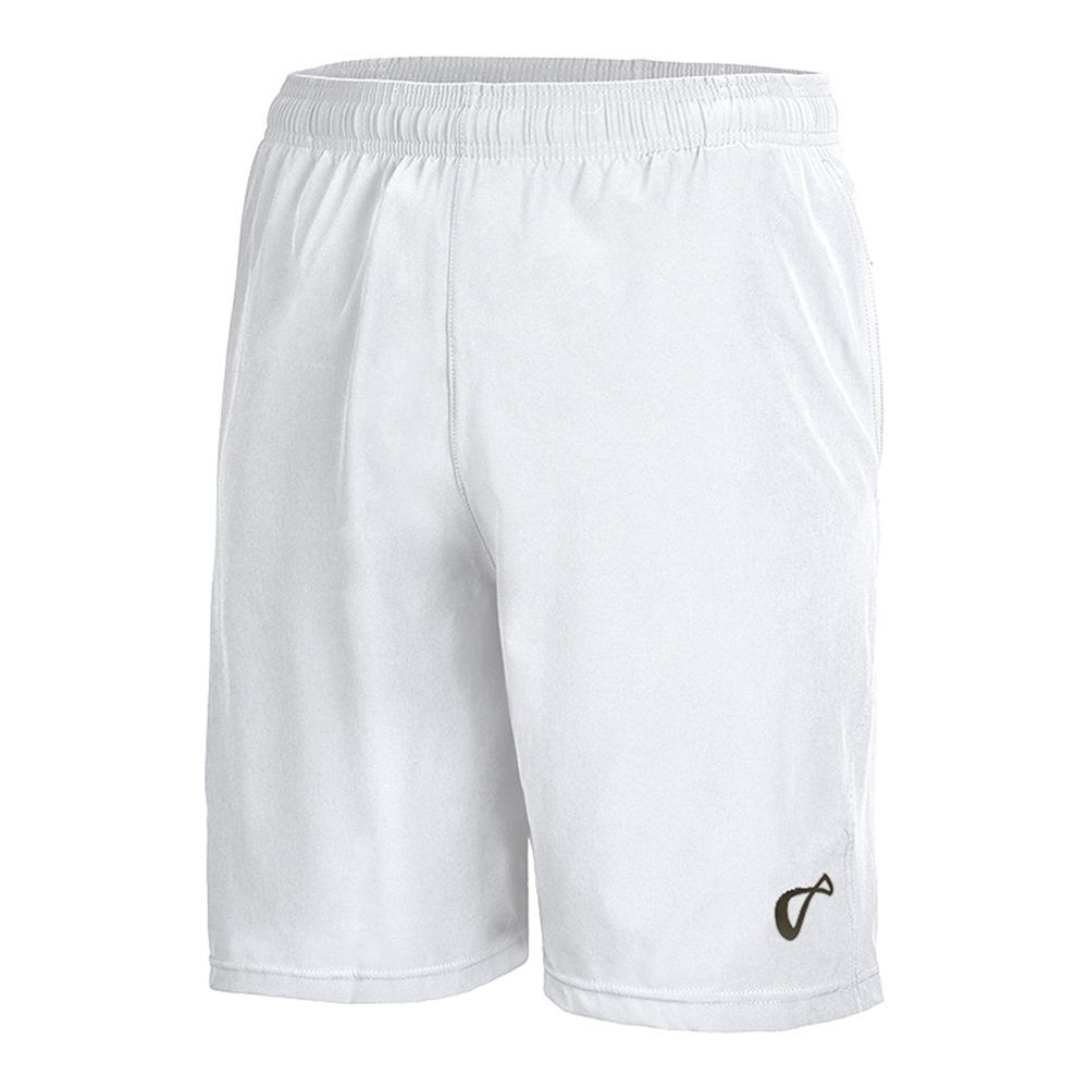 Men's Woven Tennis Short White