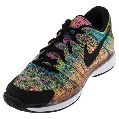 Men`s Zoom Vapor Flyknit Tennis Shoes Pink Blast and Black