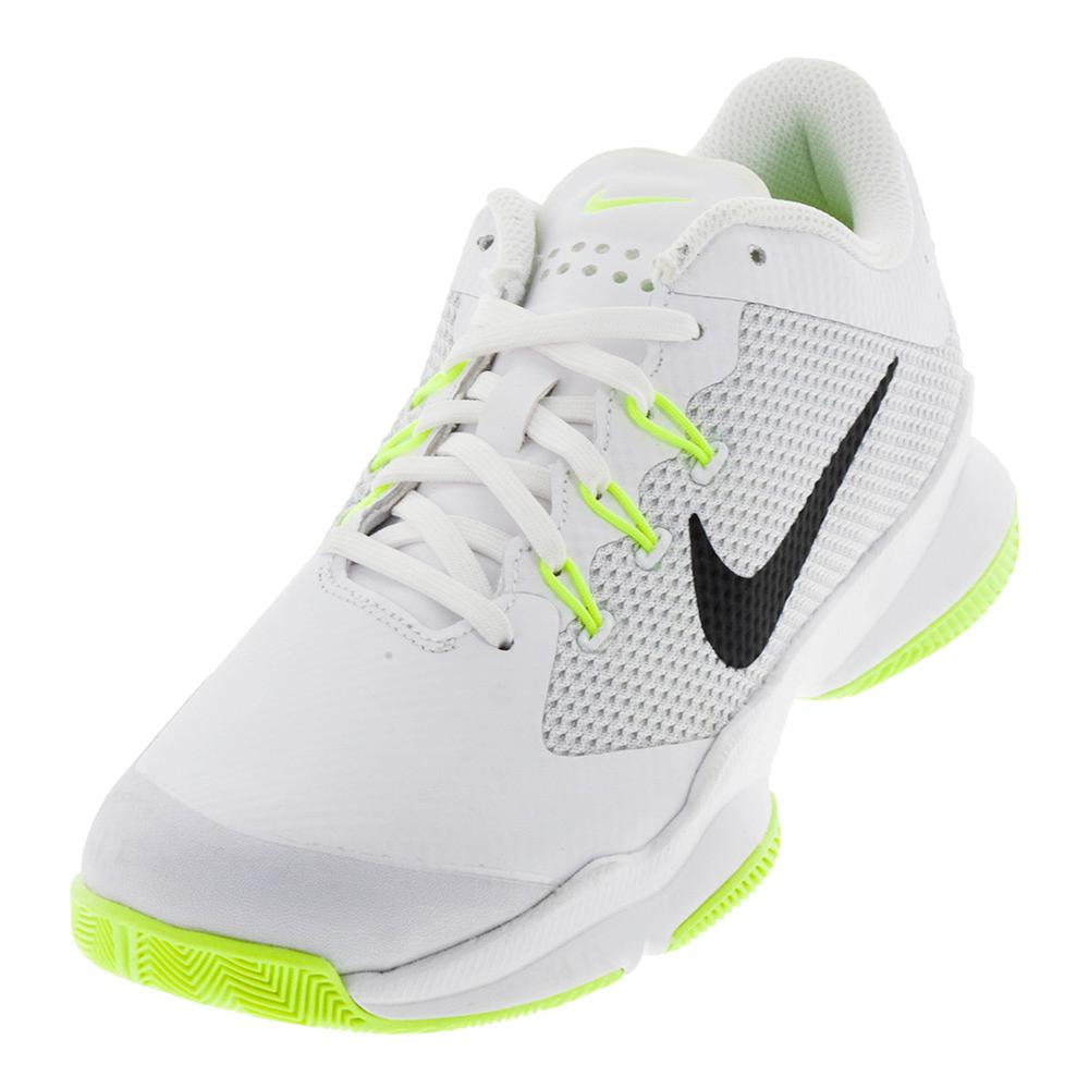 Women's Air Zoom Ultra Tennis Shoes White And Volt