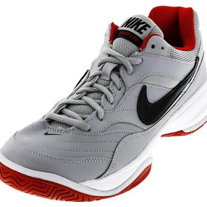 Men`s Court Lite Tennis Shoes Wolf Gray and Black