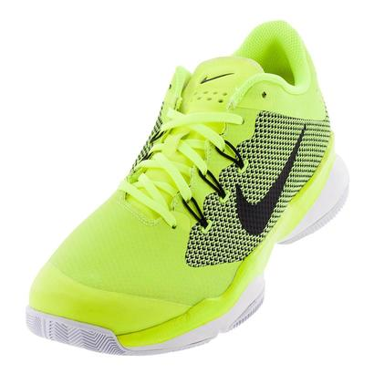Men`s Air Zoom Ultra Tennis Shoes Volt and Black