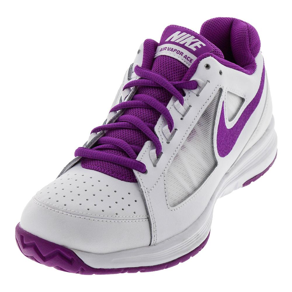 Women's Air Vapor Ace Tennis Shoes White And Vivid Purple