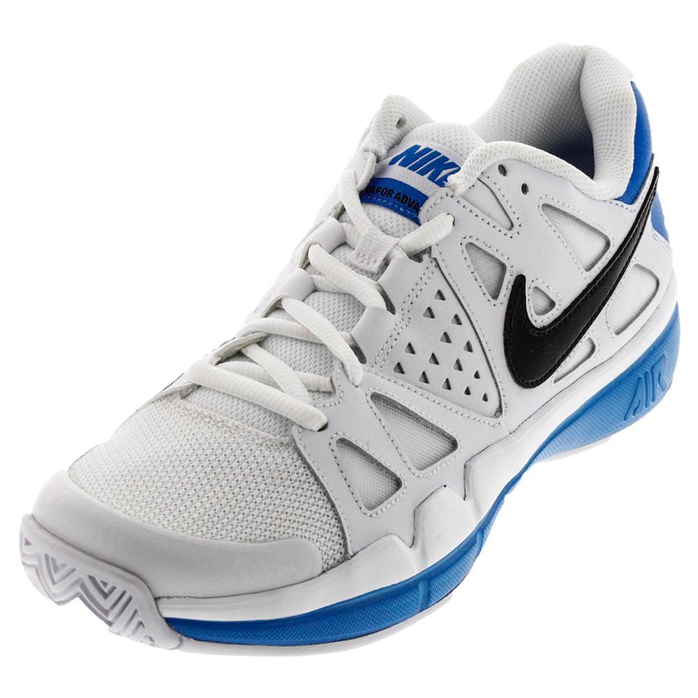 Men's Air Vapor Advantage Tennis Shoes White And Light Photo Blue