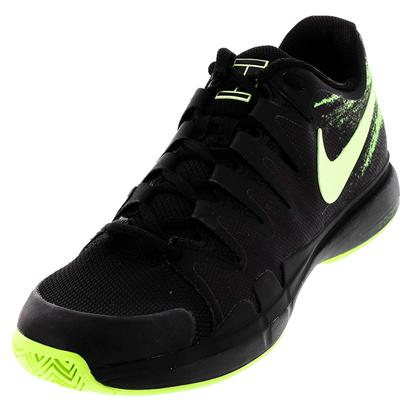 Men`s Zoom Vapor 9.5 Tour Tennis Shoes Black and Ghost Green
