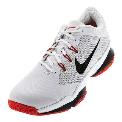 Men`s Air Zoom Ultra Tennis Shoes White and Black