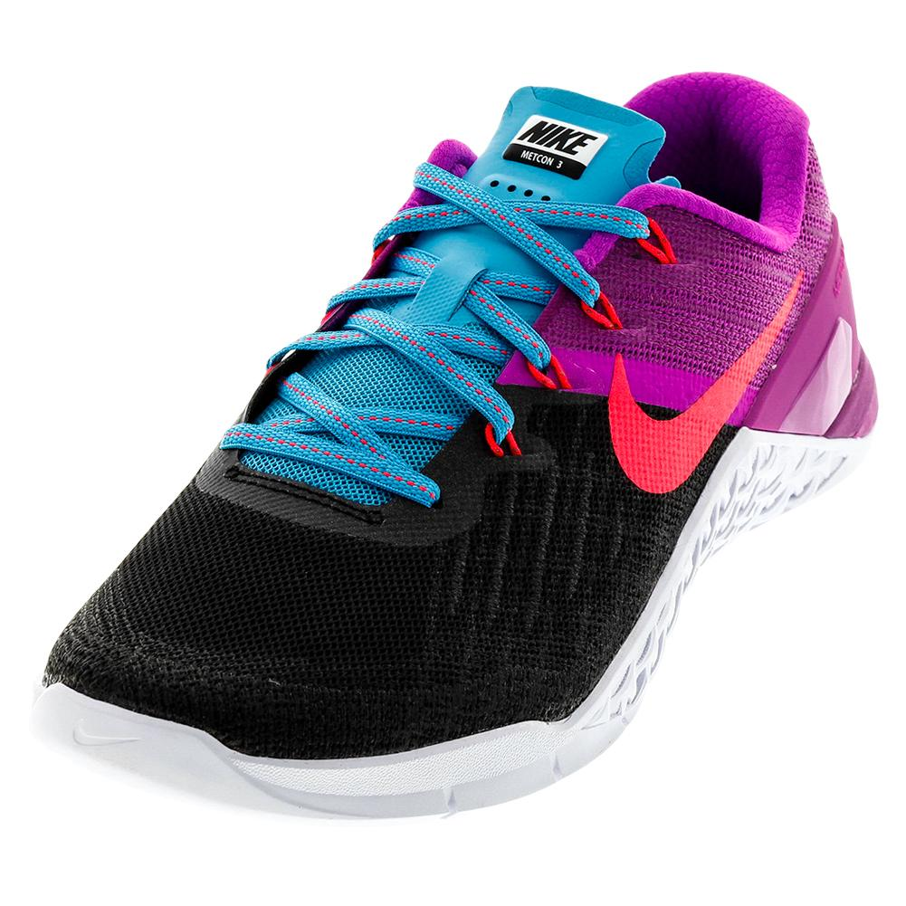 049d5bb68f0 NIKE NIKE Women s Metcon 3 Training Shoes Black And Racer Pink