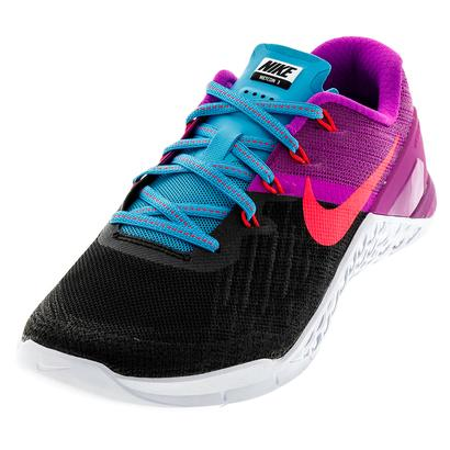 Women`s Metcon 3 Training Shoes Black and Racer Pink