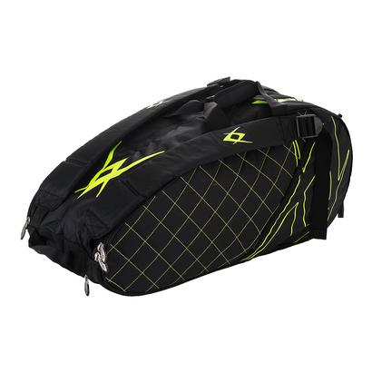 Tour Combi Tennis Bag Black and Neon Yellow
