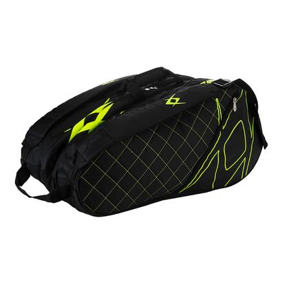Tour Mega Tennis Bag Black and Neon Yellow