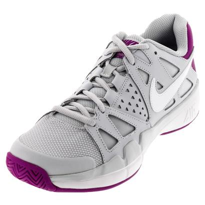 Women`s Air Vapor Advantage Tennis Shoes Pure Platinum and White