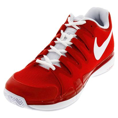 Men`s Zoom Vapor 9.5 Tour Tennis Shoes University Red and White