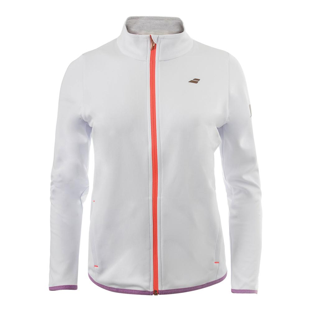 Girls ` Performance Tennis Jacket White