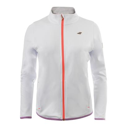 Girls` Performance Tennis Jacket White