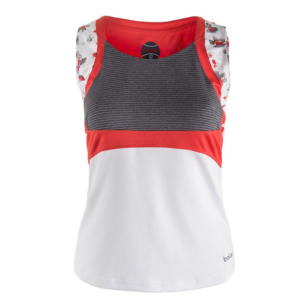 Women's Margaux Tennis Tank White And Graphite