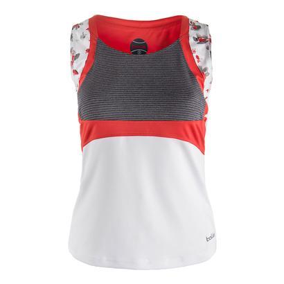 Women`s Margaux Tennis Tank White and Graphite