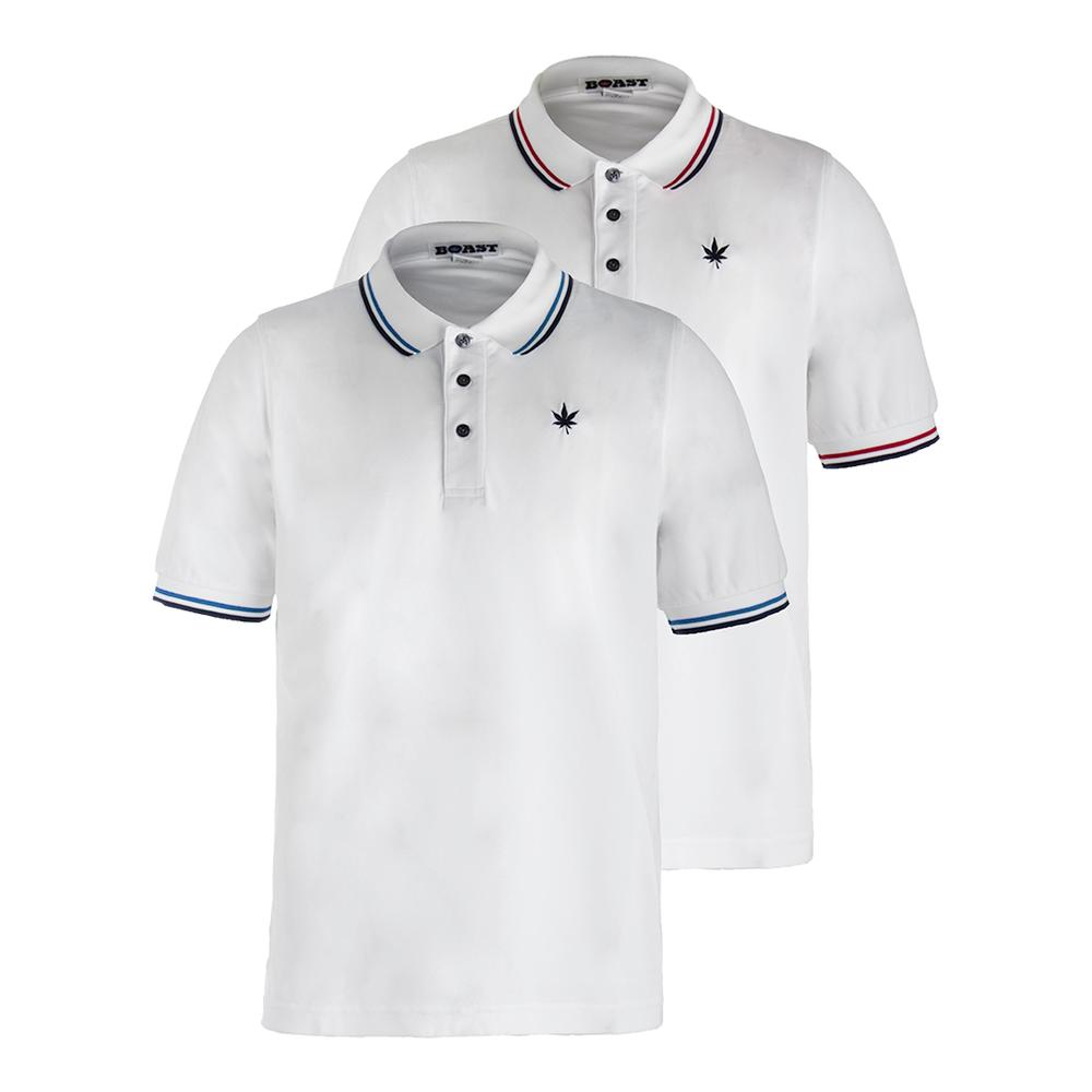 Men's Tipped Tennis Court Polo