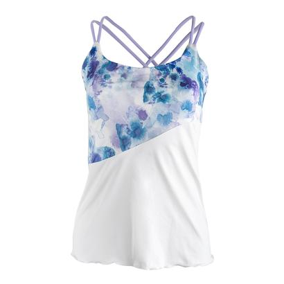 Women`s Trista Spaghetti Strap Tennis Top White