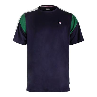 Men`s Heritage Colorblocked Tennis Crew Navy