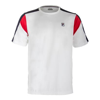 Men`s Heritage Colorblocked Tennis Crew White