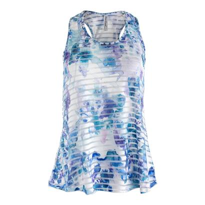 Women`s Trista Sheer Layer Tennnis Top Print