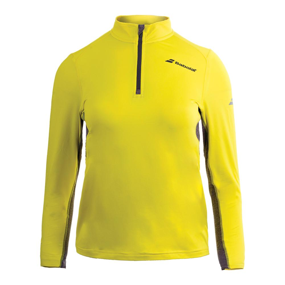 Boys ` Core 1/2 Zip Tennis Top Aero Yellow
