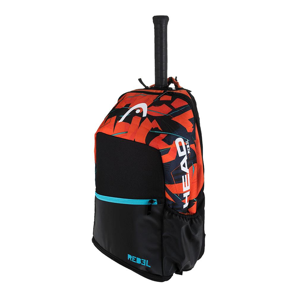 Radical Tennis Backpack Black And Orange